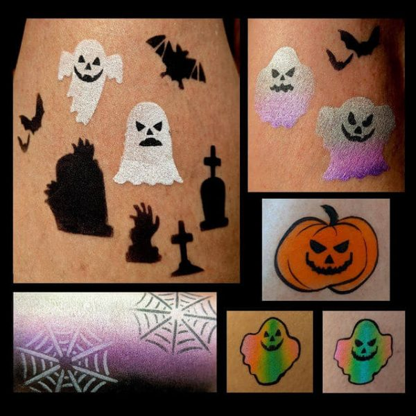 Things That Go Bump In The Night face painting stencil