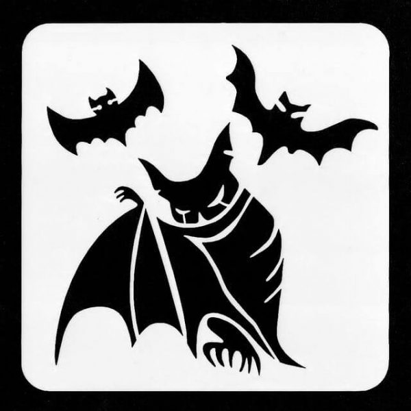 Vampire Bats face painting stencil