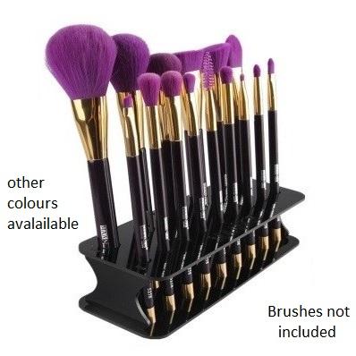 brush holder shown with brushes