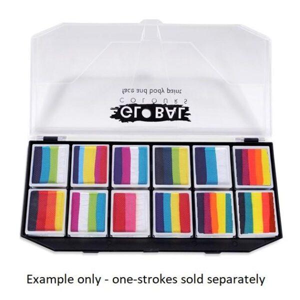 examples of customised 12-slot one-stroke palette