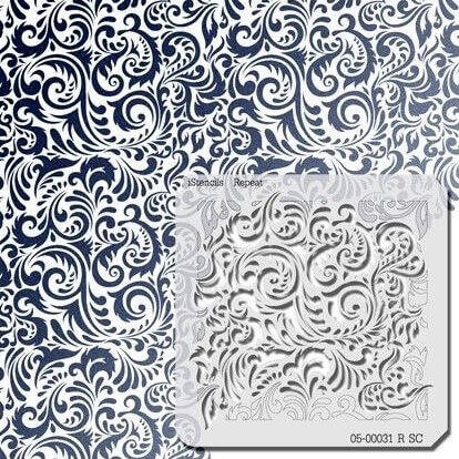 iStencil swirly pattern face painting stencil