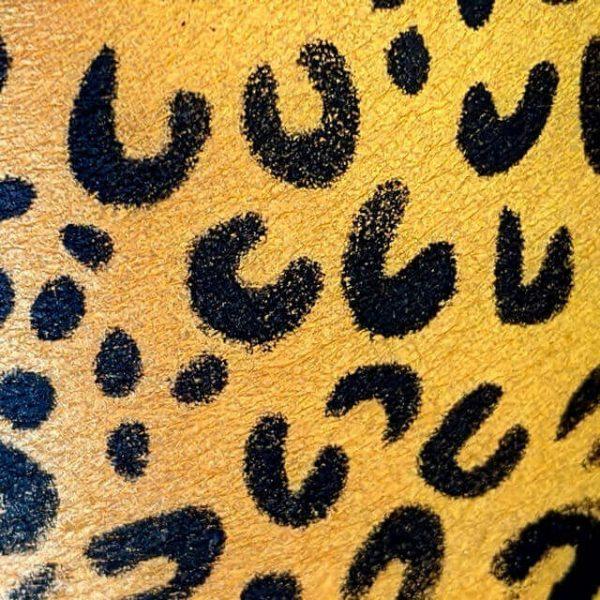 stencilled leopard print