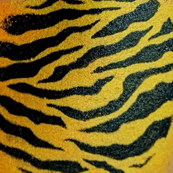 stencilled tiger stripes
