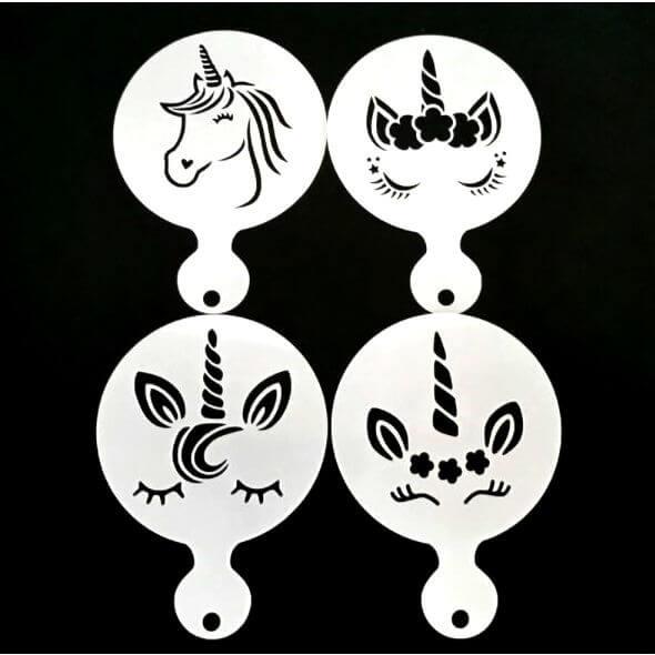 unicorn face painting stencil set